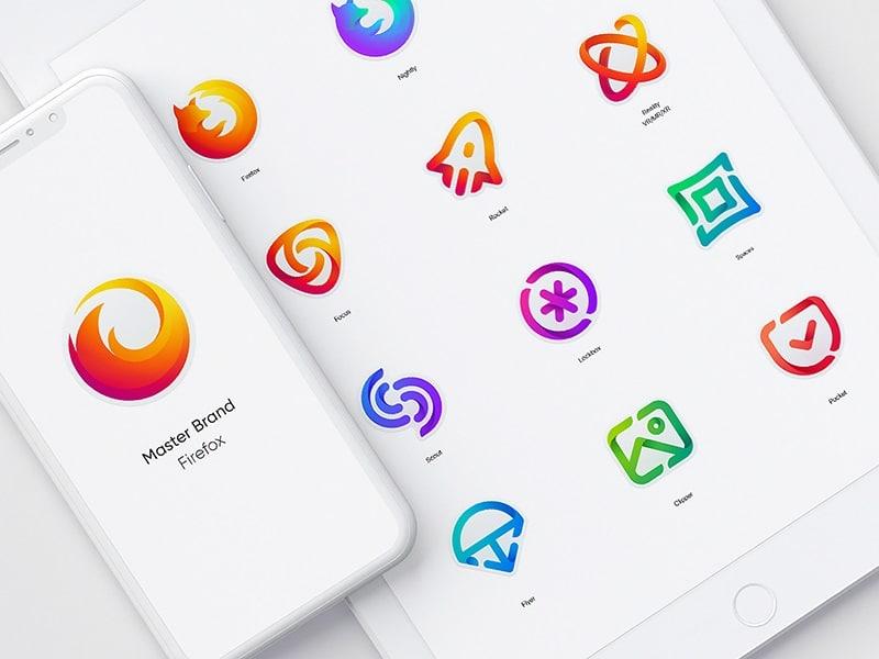 الألوان المتدرجة في تصميم المواقع الالكترونية الحديثة